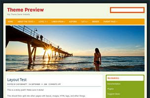 Beach girl  Wordpress Theme