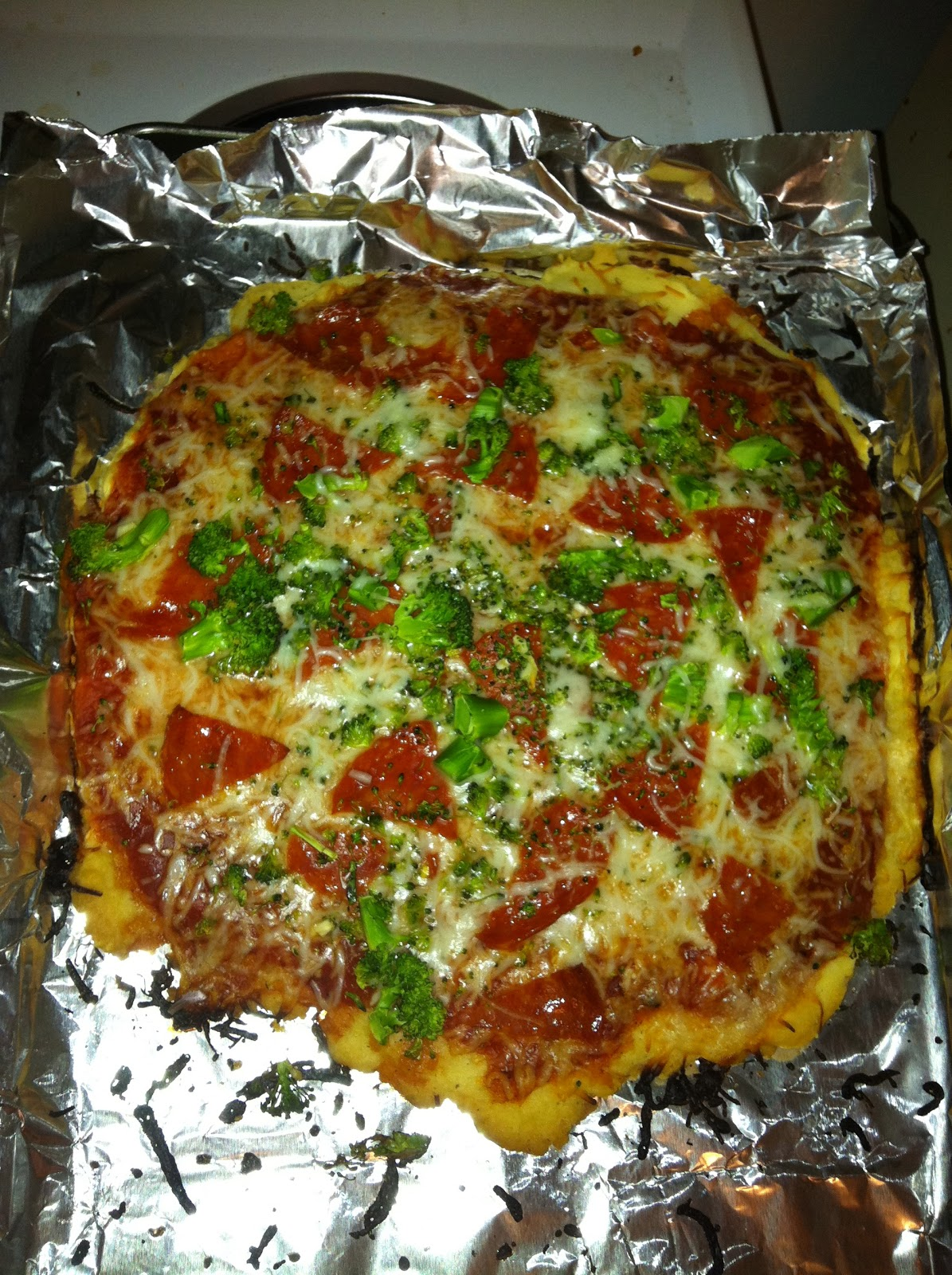 trying the gluten free pizza crust recipe from the bisquick box