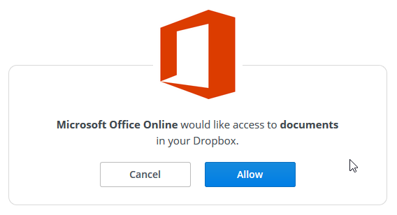 Integrasi Dropbox dengan Office Online