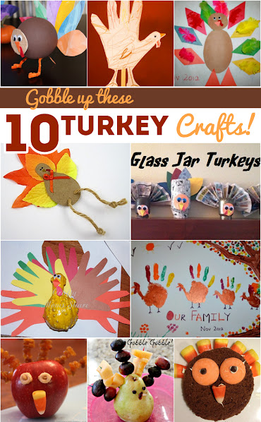 10 Turkey Crafts for Kids