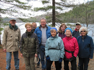 Nice hike to Silver Lake on the morning of April 20, 2013, with nine club members and friends. We ran into Ranger Holly Knox, who obliged by taking our group photo