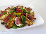 Halloumi, Fig & Pomegranate Salad