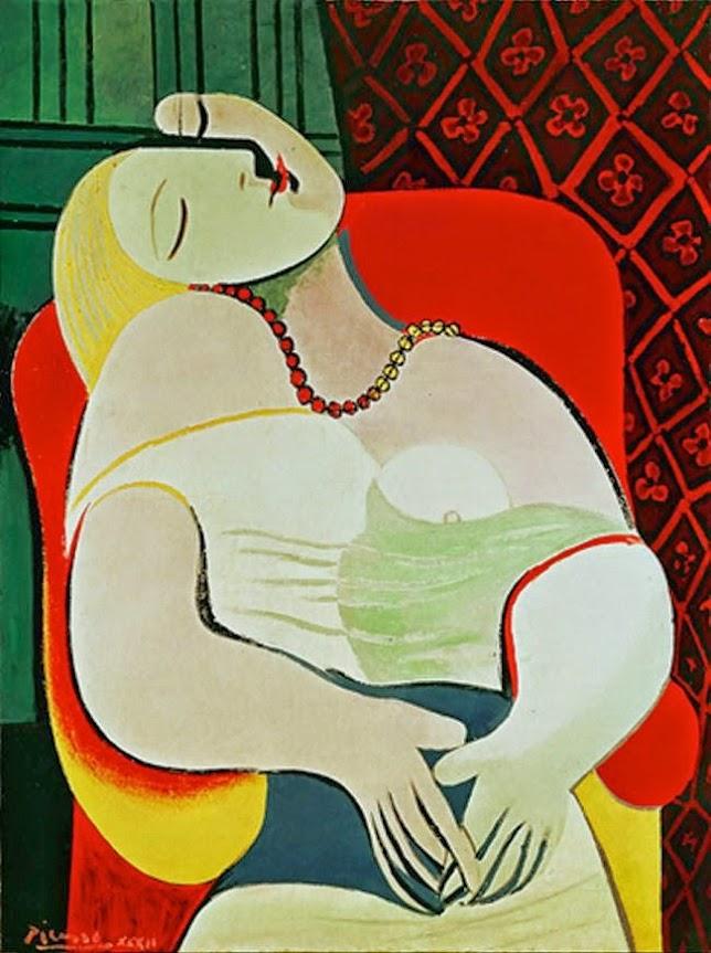 Khám phá tai nạn bức tranh Le Rêve – Picasso   Nghệ Thuật Xưa