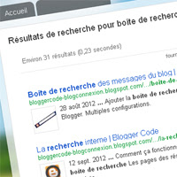 Recherche Google dans les pages recherche du blog