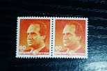 Sellos de Juan Carlos I de 60 ptas ROJO
