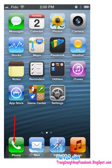 vào phần phone để bắt đầu kiểm tra số imei iphone