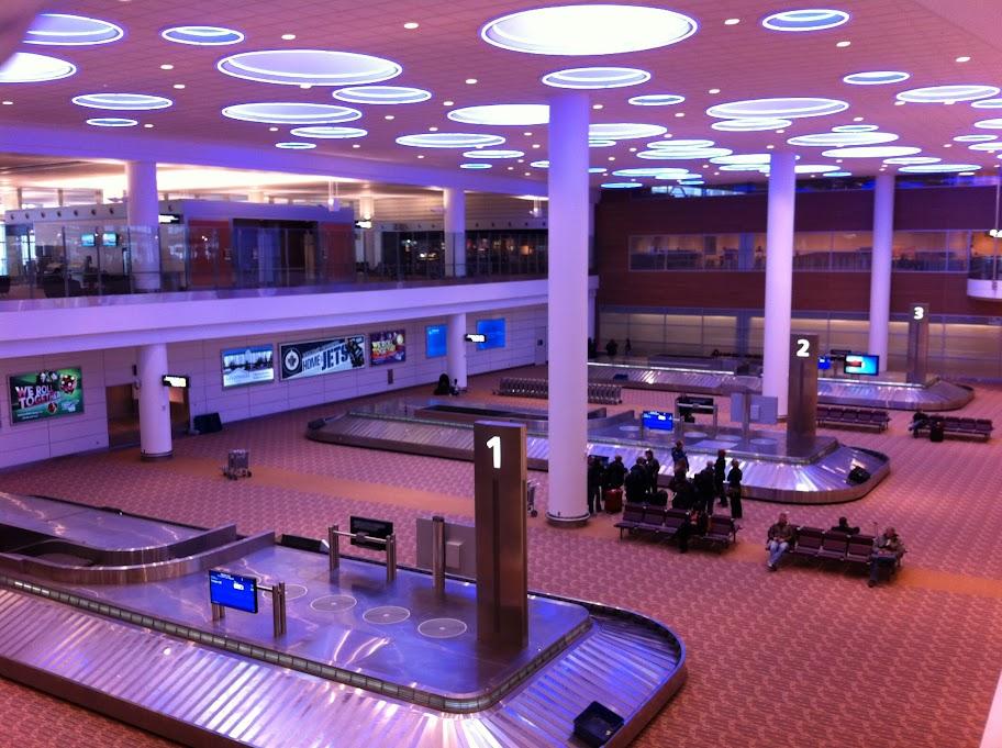 Ankunftsebene in Winnipeg