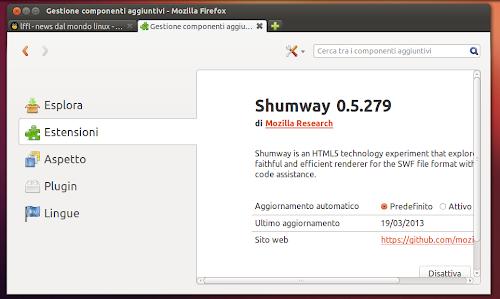 Mozilla Shumway su Firefox