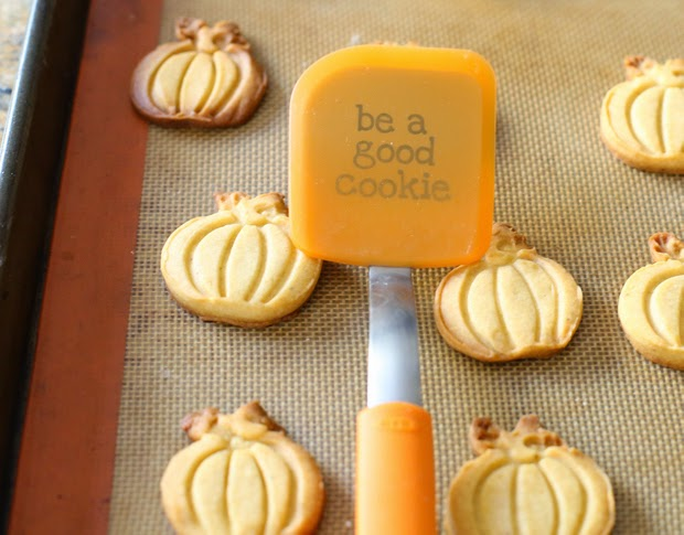 "photo of the cookie spatula that reads ""be a good cookie"""