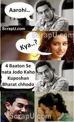 char baaton se nata jodo kaho kuposhan Bharat chhodo - Aashiqi2-Funny-Pics pictures