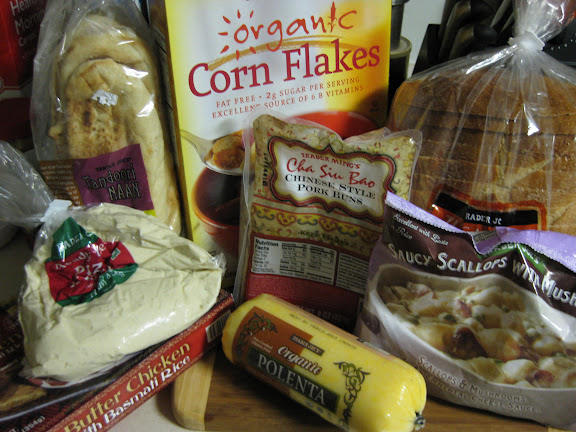 My Trader Joe's haul, sans the frozen falafel I forgot to put in this picture