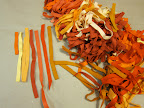 orange scraps cut into half inch strips