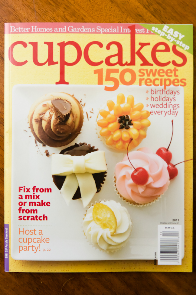 Better Homes and Gardens Im Just a Bit Excited Cupcake Project