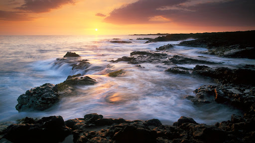 Kiawe Point Sunset, Near Kona, Big Island, Hawaii.jpg