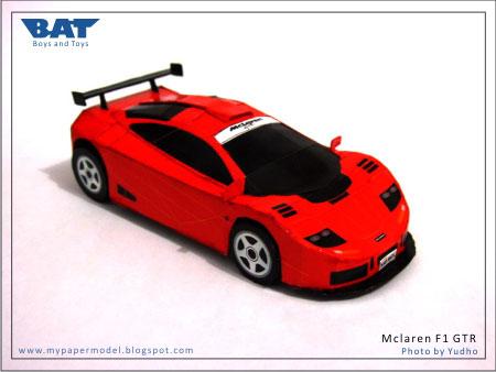 McLaren F1 GTR Papercraft