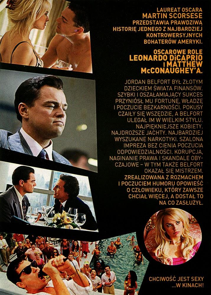 Ulotka filmu 'Wilk Z Wall Street (przód - wersja B)'