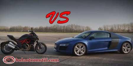 Ducati Diavel vs Audi R8 V10