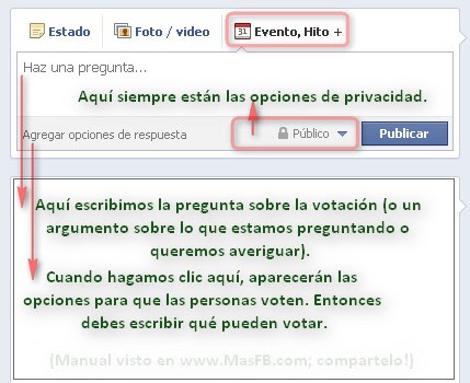Facebook preguntas votar FB