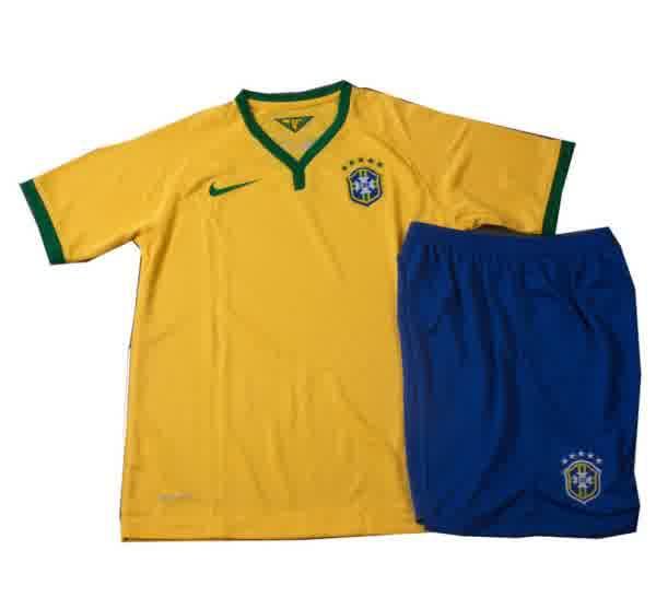 Jual Jersey Bola Anak Brazil Piala Dunia 2014