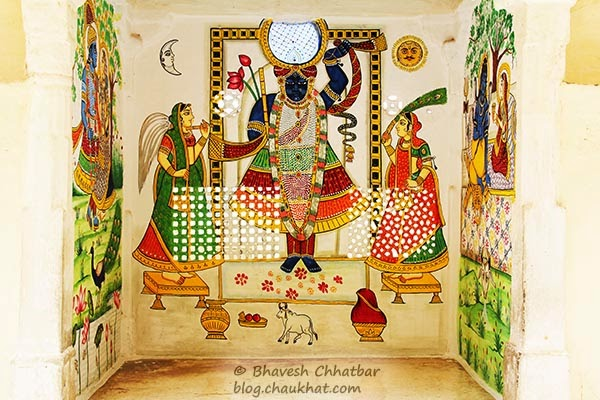 Wall painting of Shreenathji
