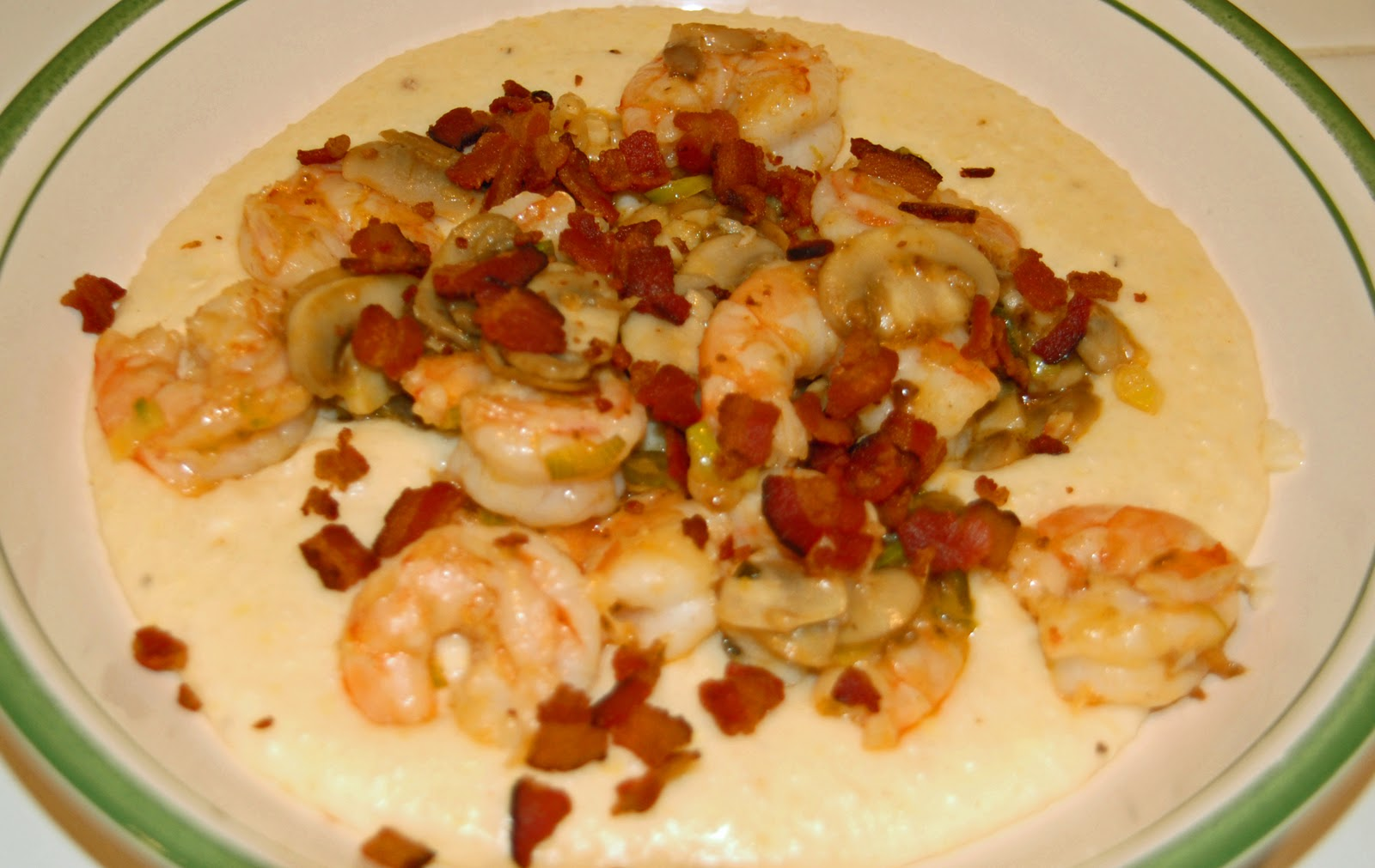 Sauteed Shrimp And Pancetta With Cheese Grits Recipes — Dishmaps
