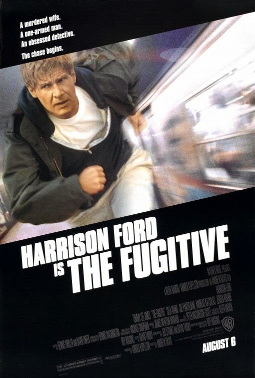 Poster Of The Fugitive (1993) Full Movie Hindi Dubbed Free Download Watch Online At Alldownloads4u.Com