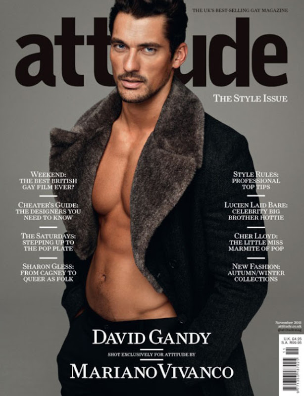 David Gandy by Mariano Vivanco for ATTITUDE Style Issue, November 2011