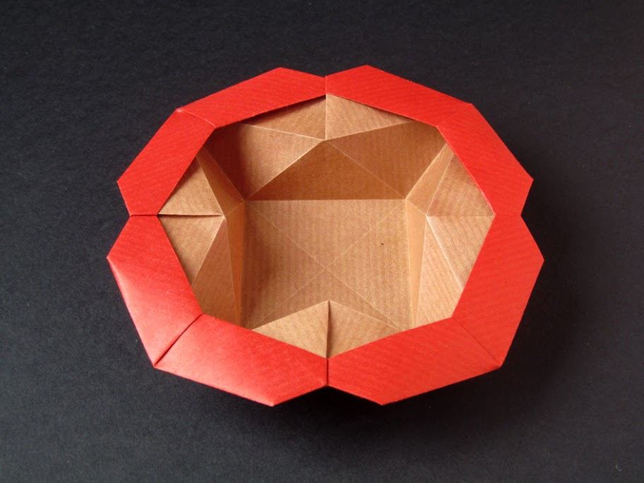 Origami foto Scatola Stella-fiore, variante - Flower-star box, variant, Francesco Guarnieri