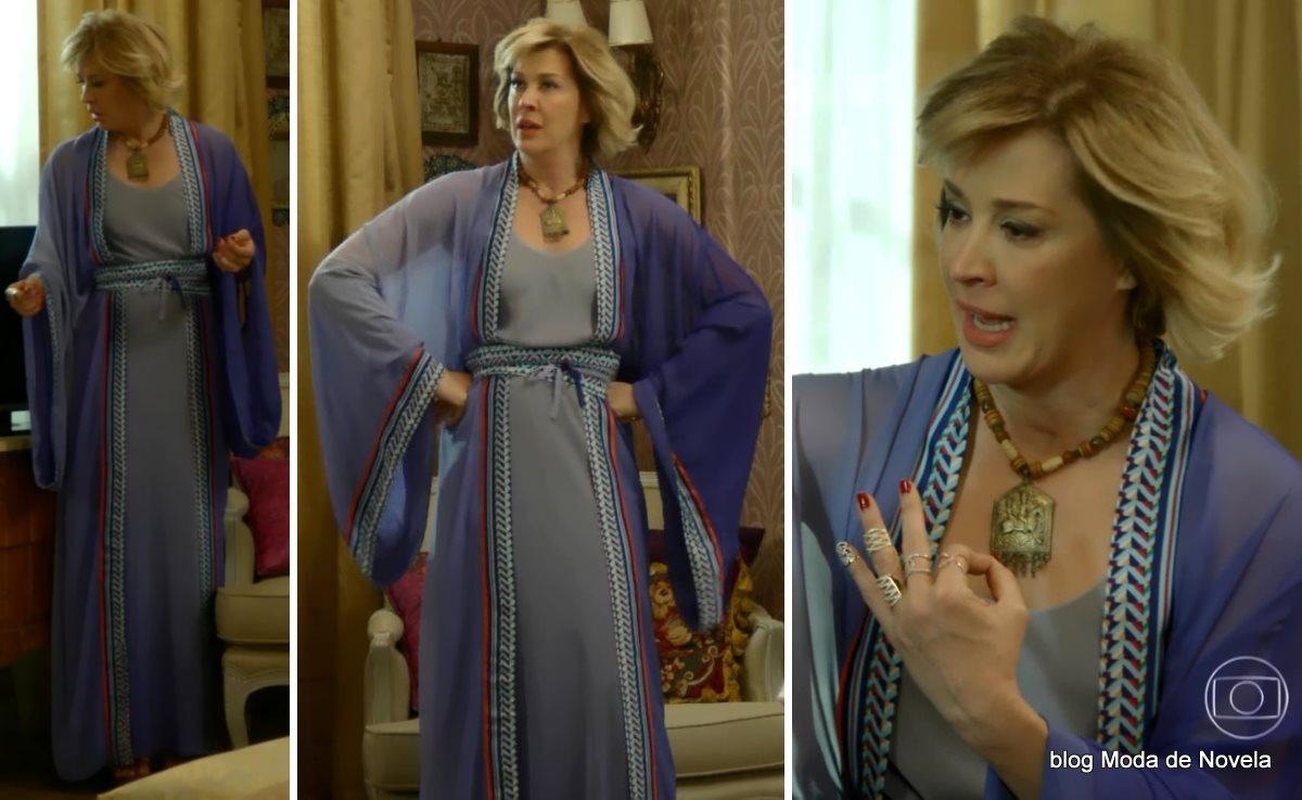 moda da novela Alto Astral, look da Samantha dia 6 de novembro