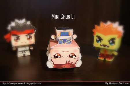 Mini Street Fighter Papercraft