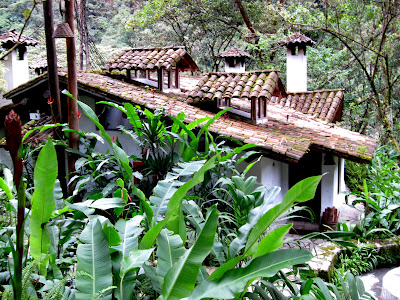 Buildings at the Inkaterra luxury hotel in Machu Picchu Peru