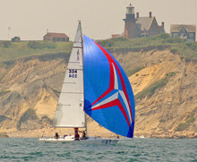 J/105 sailboat- sailing around block island race