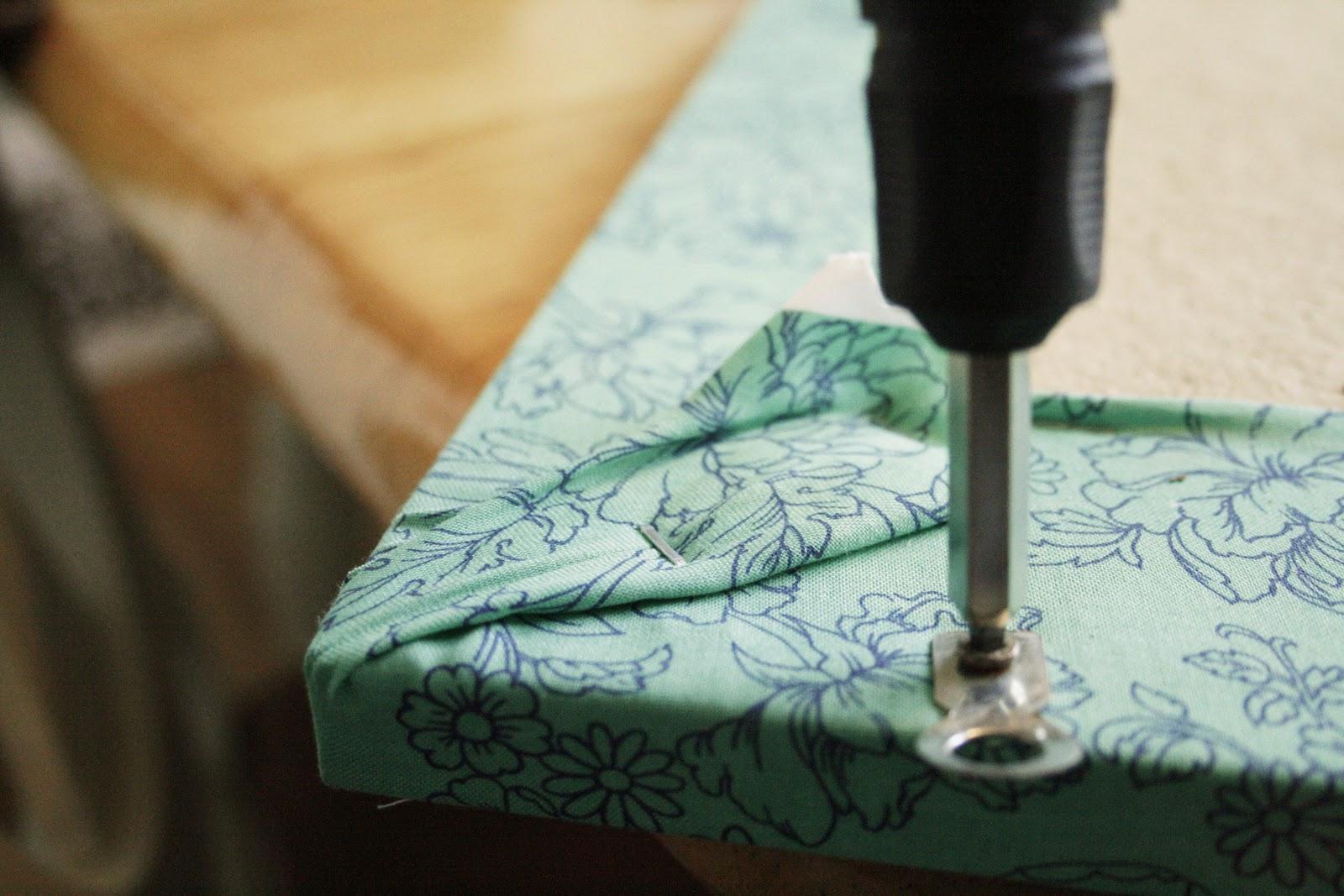 Lather write repeat delightful diy pretty fabric for Pretty bulletin board