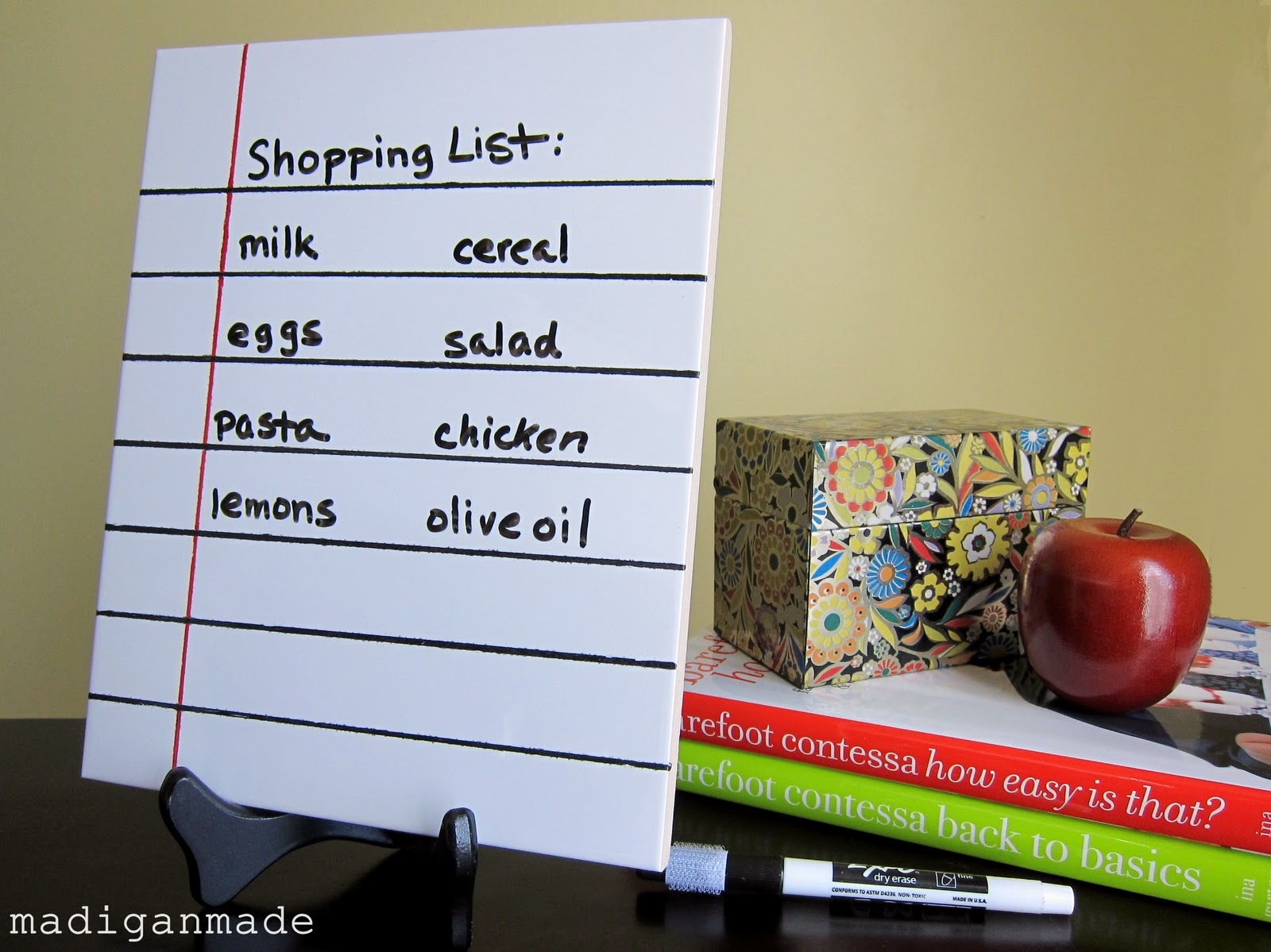 dry erase shopping list guest tutorial by madigan made