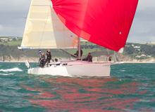 J/109 sailing Dartmouth sailing week in England
