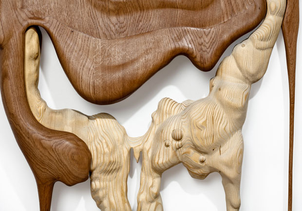 Melted Wood Sculptures by Bonsoir Paris