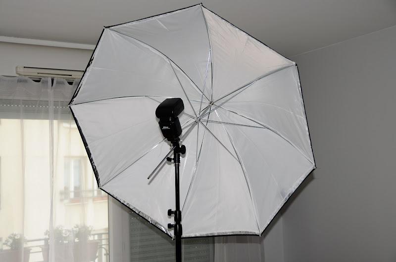 Trépied, rotule et parapluie... Parapluie