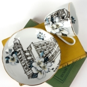 London Teacup and Saucer
