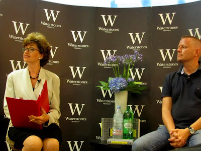 Patrick Ness and Nicolette Jones at Waterstone's Piccadilly