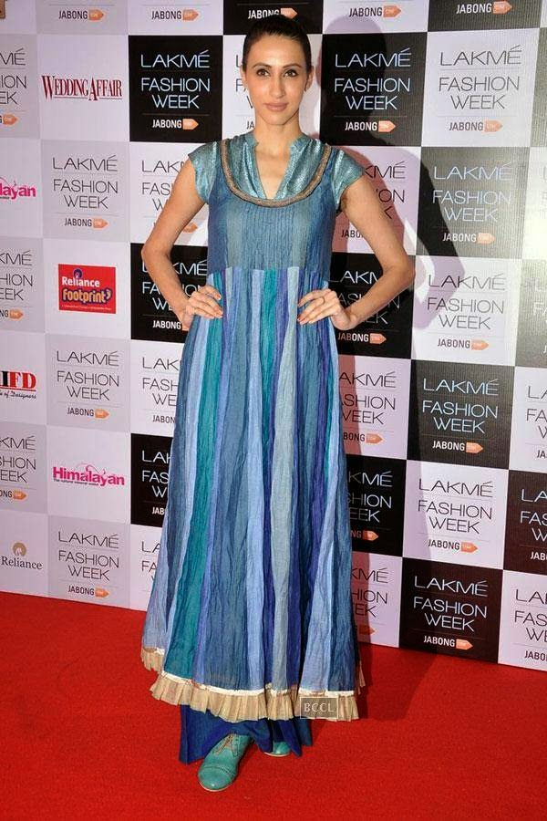 Model Alesia Raut during Lakme Fashion Week curtain-raiser, held in Mumbai, on July 28, 2014. (Pic: Viral Bhayani)