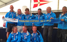 J/111 Xcentric Ripper winning sailing team