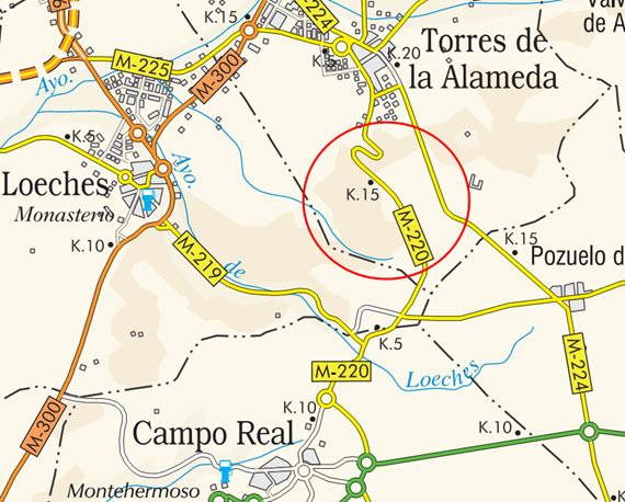 Mejora de la carretera M-220 entre Campo Real y Torres de la Alameda