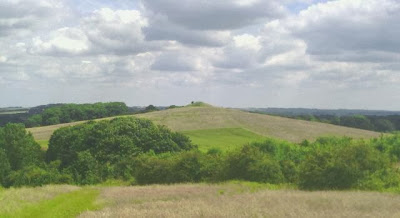 Large hill which on unclose examination is an old pyramid
