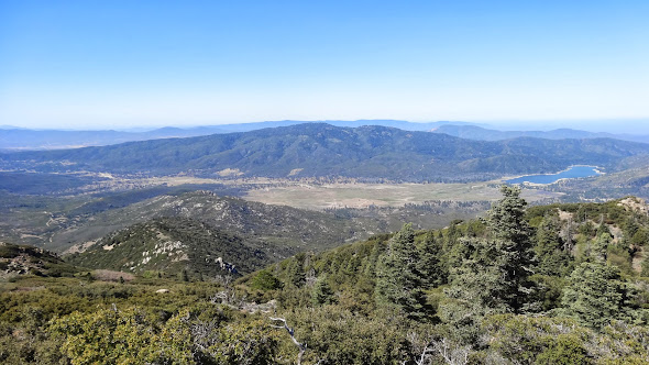 The Garner Valley and Lake Hemet from atop Spitler Peak