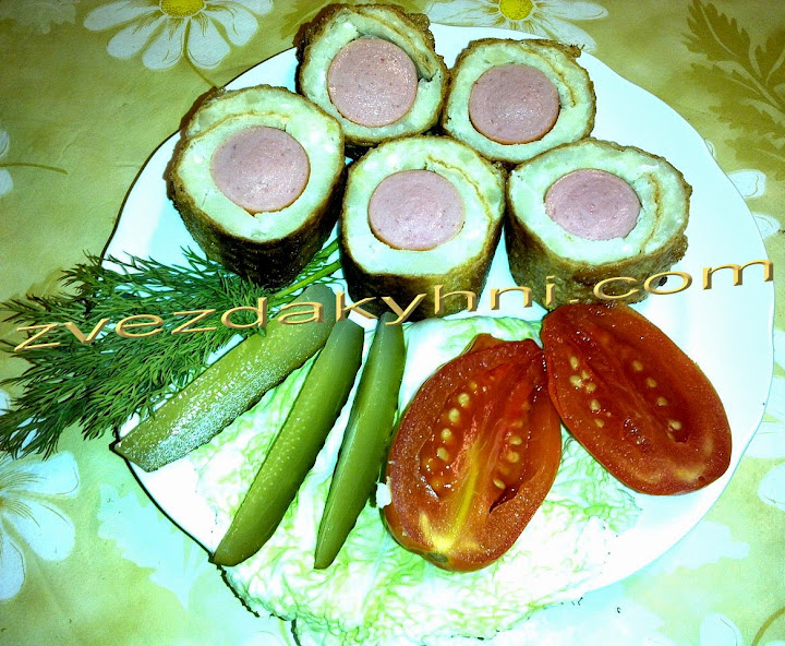 Сосиски в тесте на сковороде