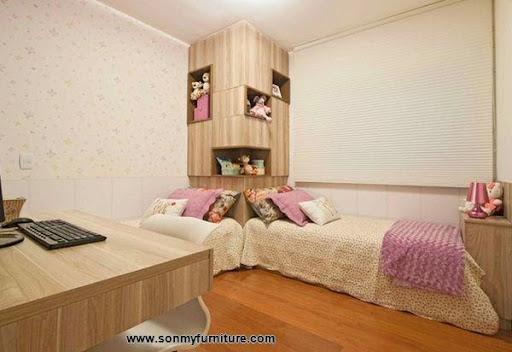 Các mẫu giường góc đẹp cho phòng ngủ nhỏ-8