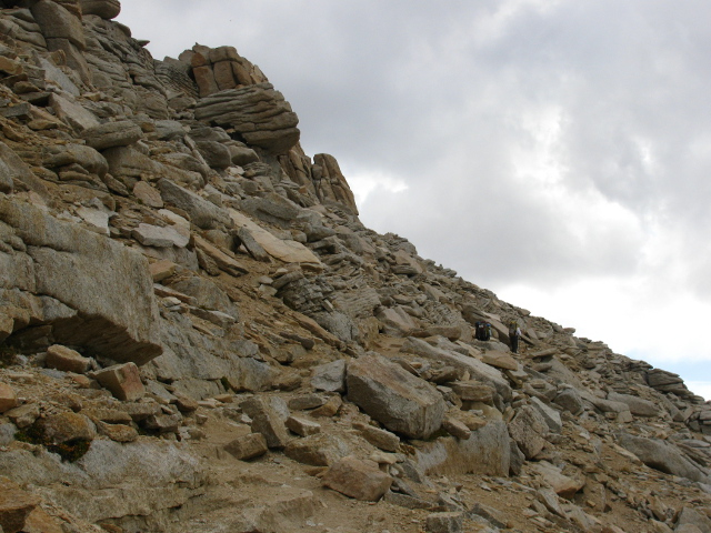 loose rocks and layered rocks