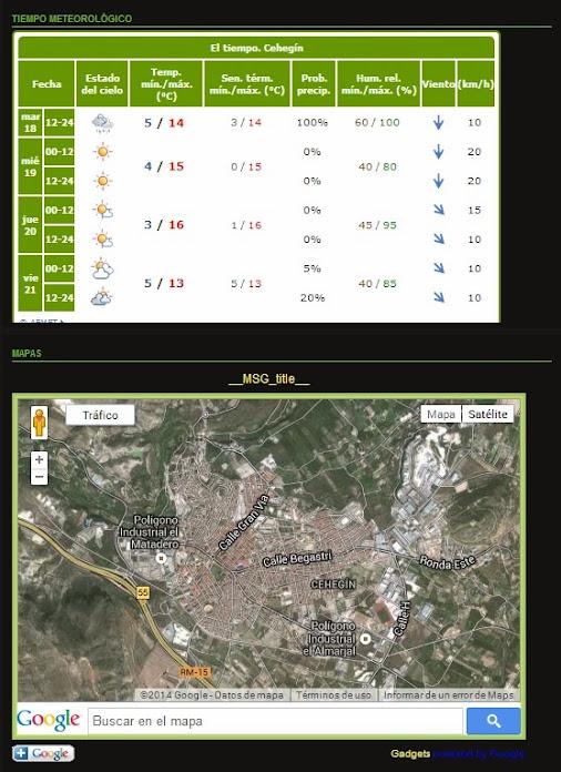 También encontraras, Tiempo meteorológico y un mapa virtual Sin+t%C3%ADtulo