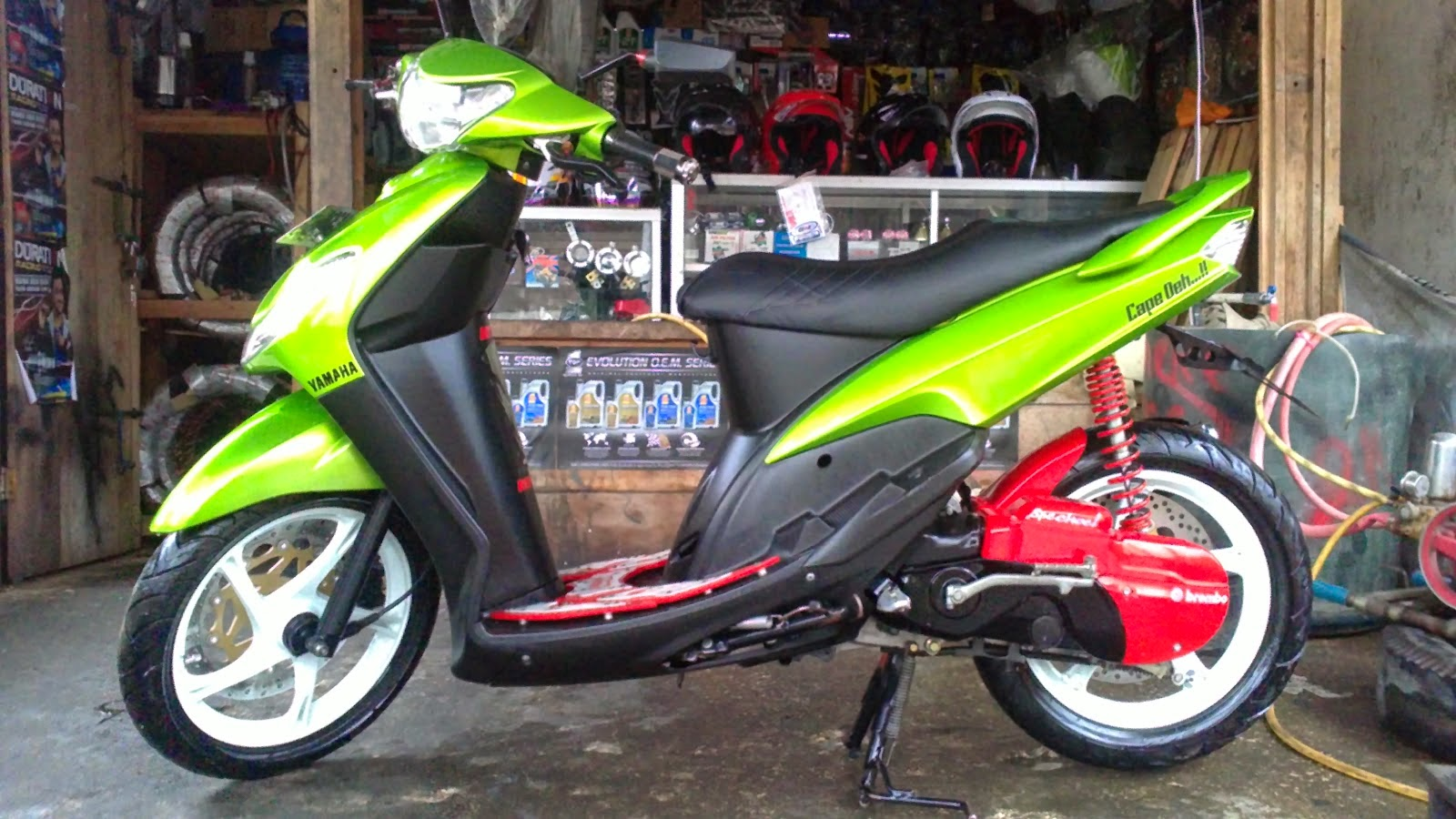 Modifikasi Motor Mio Sporty Standar