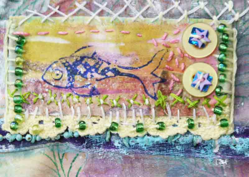 Craft Project - Stitching Paper - Block Printing